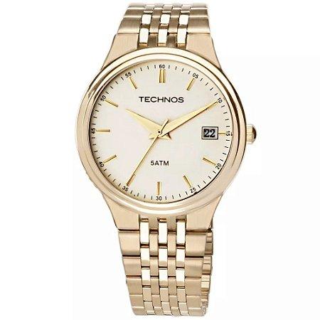 Relógio Technos Masculino Classic Steel Analógico 2115GR 4X - Ótica ... 81cb958fea