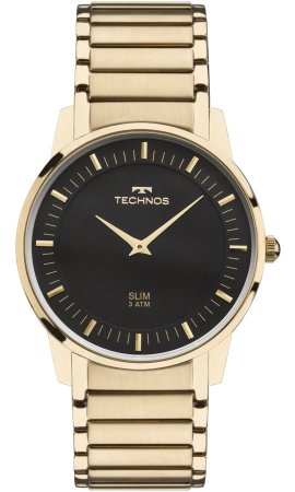 4e45e807a63 Relógio Technos Unissex Classic Slim Analógico GL20AQ 4P - Ótica Quartz