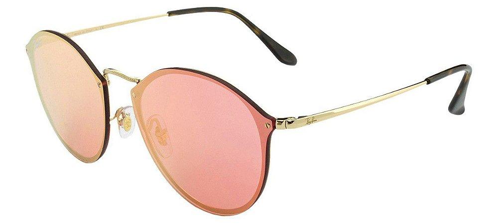 f24e605c2b Óculos de Sol Ray-Ban Blaze Round RB3574N 001 E4 - Ótica Quartz