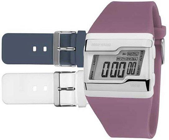 19846f2879ae3 Relógio Mormaii Feminino Acquarela Troca Pulseira Digital FZU 8C ...