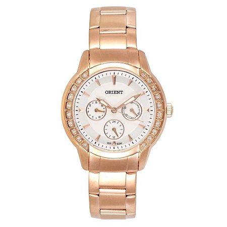 47ac33b239589 Relógio Orient Feminino Eternal Cristais Swarovski Analógico FRSSM011 S1RX
