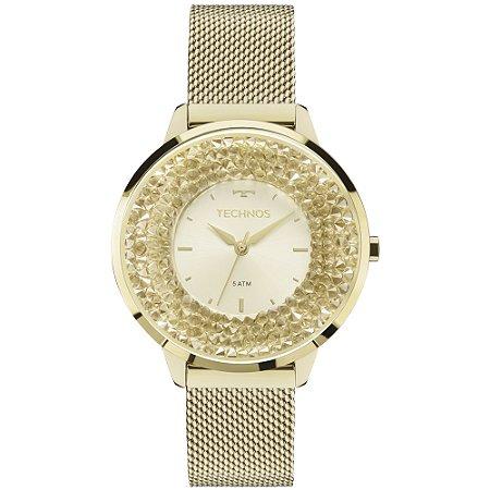 1a14a79c3c335 Relógio Technos Feminino Elegance Crystal Swarovski Analógico 2035MLG 4X