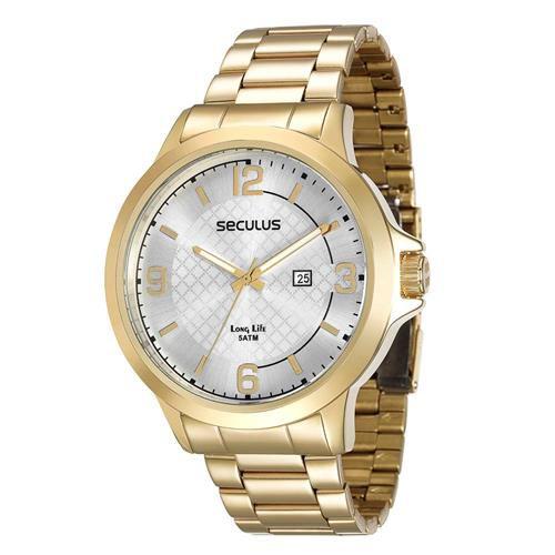 Relógio Seculus Masculino Long Life Analógico 28660GPSVDA1
