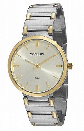 Relógio Seculus Masculino Analógico 24214GPSVBA3