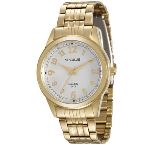 Relógio Seculus Feminino Long Life Analógico 20404LPSVDA1