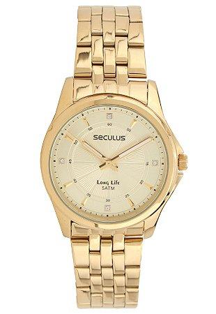 74d44f0dc5ce4 Relógio Seculus Feminino Long Life Analógico 20352LPSVDA1 - Ótica Quartz