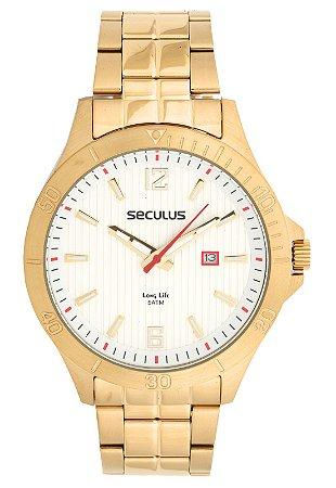 Relógio Seculus Masculino Long Life Analógico 20529GPSVDA3