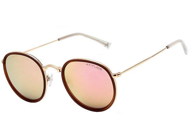 8c23a1161 Óculos de Sol Atitude Feminino AT3192 04A - Ótica Quartz