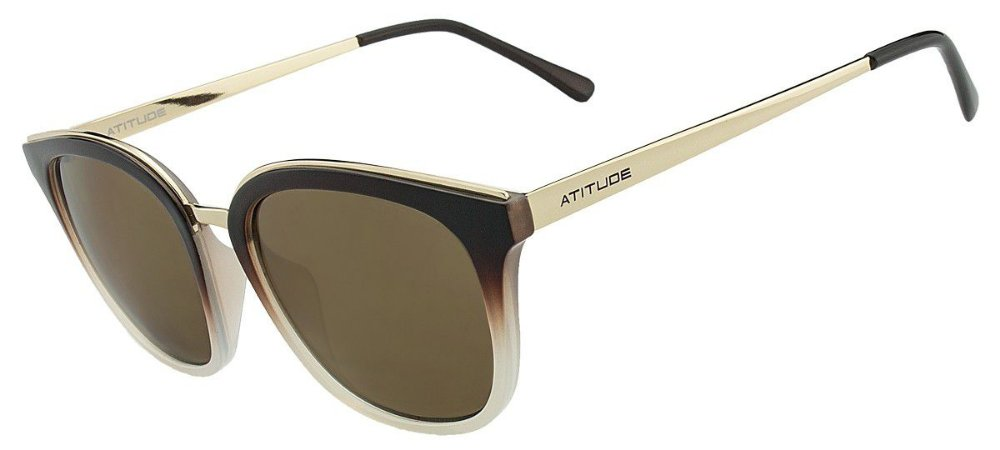b0ddec66d Óculos de Sol Atitude Feminino AT5336 C01 - Ótica Quartz