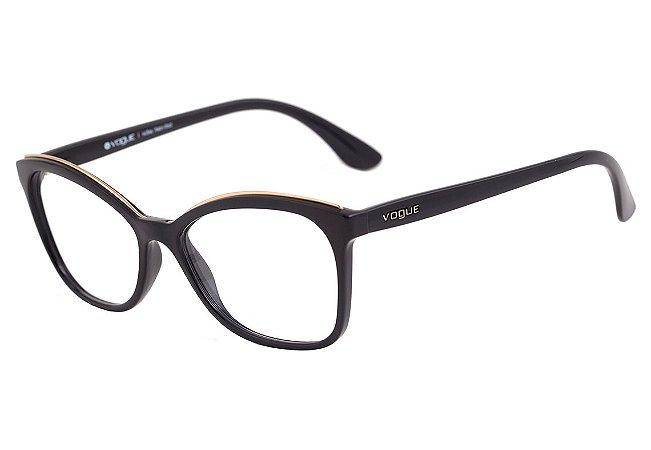 Armação Óculos de Grau Vogue Feminino Metal Eyebrow VO5160L W44 ... 877e37428b
