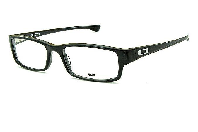 32806bd2b9e04 Armação Óculos de Grau Oakley Masculino Servo OX1066-01 57 - Ótica ...
