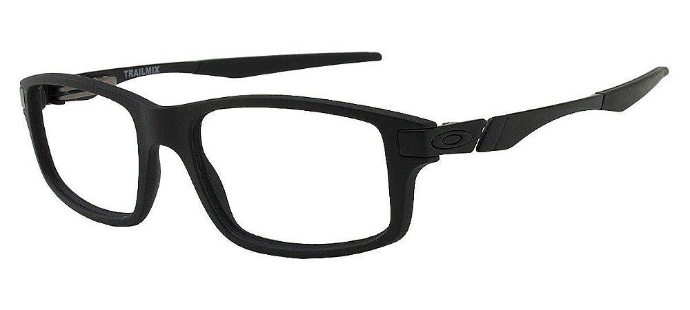 288d972ab9680 Armação Óculos de Grau Oakley Masculino Trailmix OX8035-01 - Ótica ...