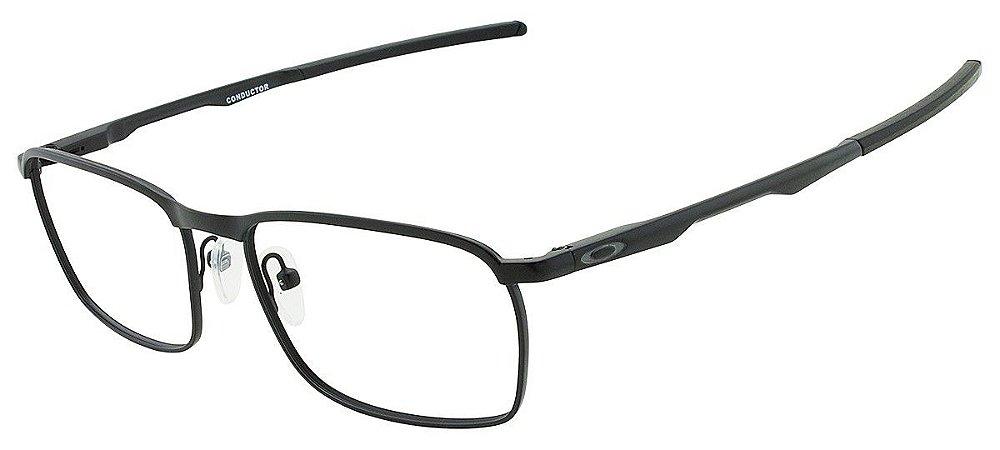 7993899393a87 Armação Óculos de Grau Oakley Masculino Conductor OX3186-01 - Ótica ...