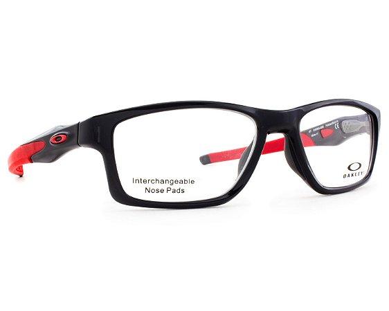 9b151f171be16 Armação Óculos de Grau Oakley Masculino Crosslink MNP OX8090-03 ...