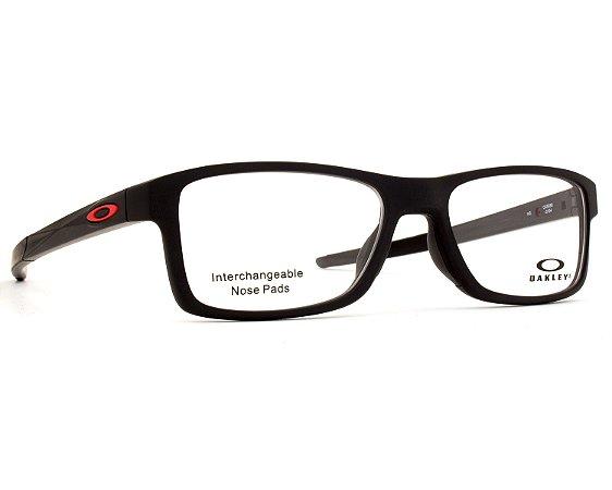 Armação Óculos de Grau Oakley Masculino Chamfer MNP OX8089-01 26e8eca88e
