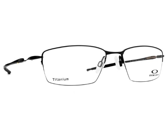 0bd96df16 Armação Óculos de Grau Oakley Masculino Lizard Titanium OX5113-04 ...