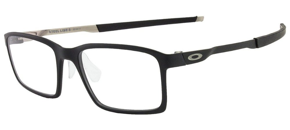 81f917b45eb8d Armação Óculos de Grau Oakley Masculino Steel Line S OX8097-01 ...