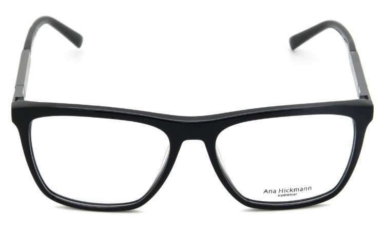 Armação Óculos de Grau Ana Hickmann Feminino AH6232 A01 - Ótica Quartz 9ff0ddc684