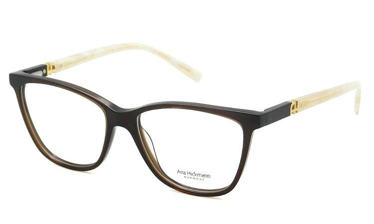 8b39117b9d8bf Armação Óculos de Grau Ana Hickmann Feminino AH6313 T02 - Ótica Quartz