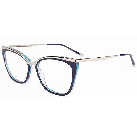 7ebe32cc8 Armação Óculos de Grau Hickmann Feminino HI6061 H02 - Ótica Quartz