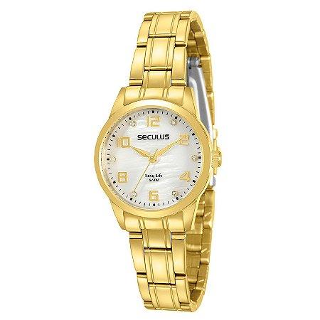 Relógio Seculus Feminino Long Life Analógico 28910LPSVDA1