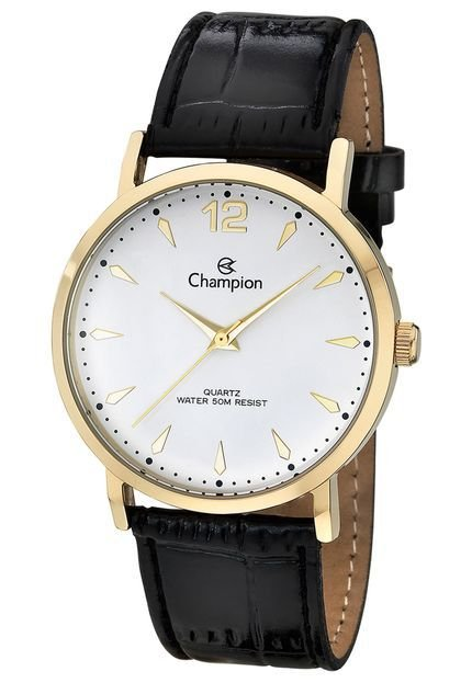 957e5a3049c Relógio Champion Unissex Glamour Analógico CH22715M - Ótica Quartz