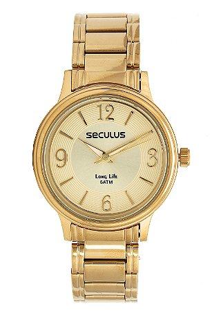 11cfa65cb7f Relógio Seculus Feminino Long Life Analógico 28875LPSVDA1 - Ótica Quartz