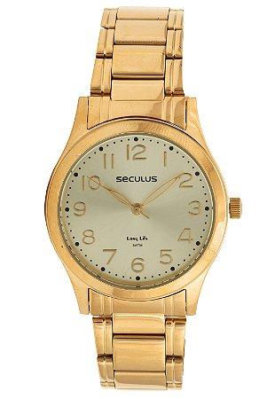 Relógio Seculus Feminino Long Life Analógico 20488LPSVDA1