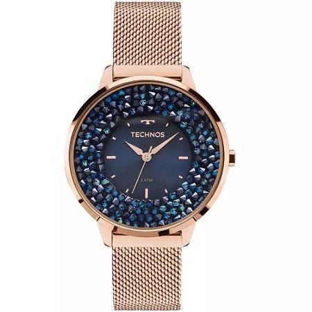 74a52f026658a Relógio Technos Feminino Elegance Crystal Swarovski Analógico 2035MLE 4A