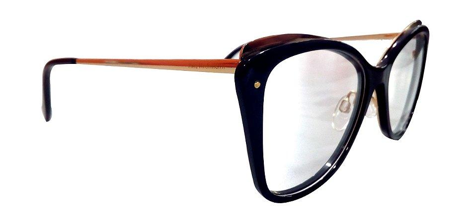 027b521e8c4d4 Armação Óculos de Grau Ana Hickmann Feminino AH6325 A01 - Ótica Quartz