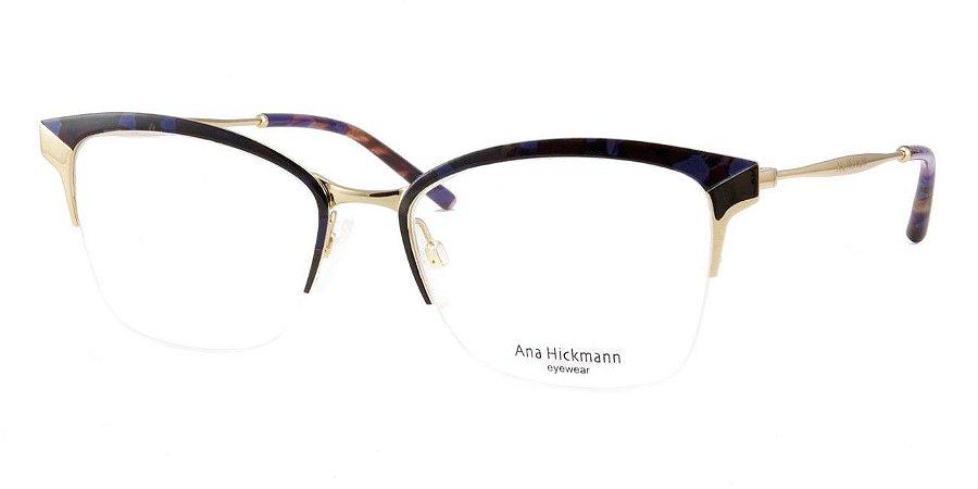 662808638ea Armação Óculos de Grau Ana Hickmann Feminino AH1353 04D