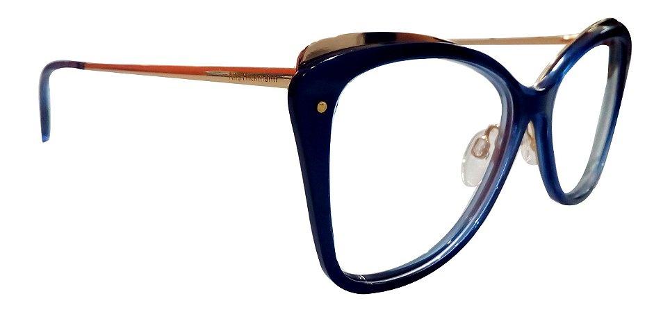 57d985c33 Armação Óculos de Grau Ana Hickmann Feminino AH6325 C03 - Ótica Quartz