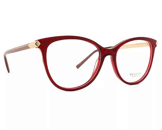 3bbf757c55216 Armação Óculos de Grau Ana Hickmann Feminino AH6321 C01 - Ótica Quartz