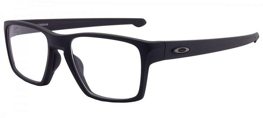 0bacc25f01100 Armação Óculos de Grau Oakley Masculino Litebeam OX8140-01 - Ótica ...