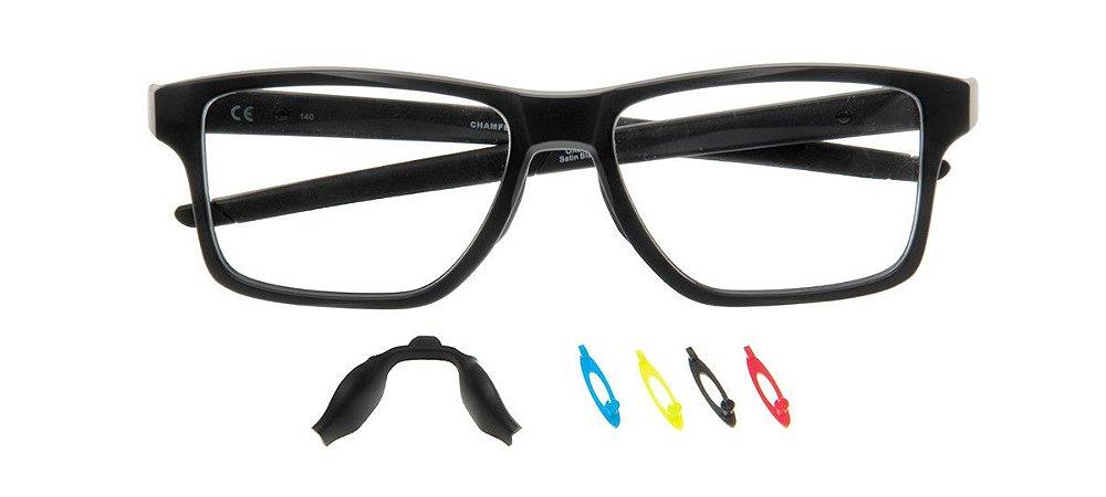 Armação Óculos de Grau Oakley Unissex Chamfer Squared OX8143-01 ... 1154298ab3