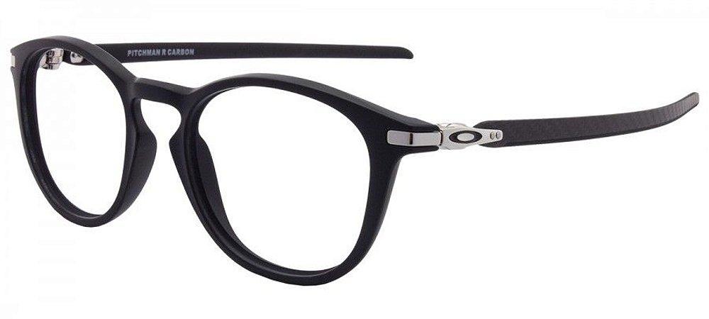 c8d6c61be Armação Óculos de Grau Oakley Masculino Pitchman R Carbon OX8149-01 ...