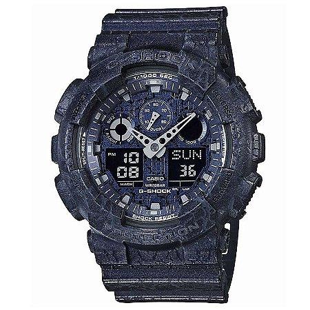 Relógio Casio Masculino G-Shock Anadigi GA100CG2ADR