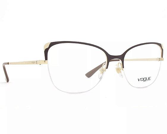 57c62a5a8e41d Armação Óculos de Grau Vogue Feminino Metallic Beat VO4077 997 ...