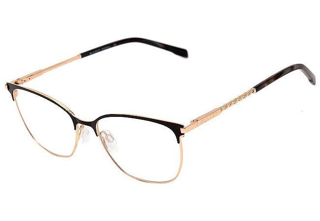 f5c40221a2247 Armação Óculos de Grau Bulget Feminino BG1602 09A - Ótica Quartz