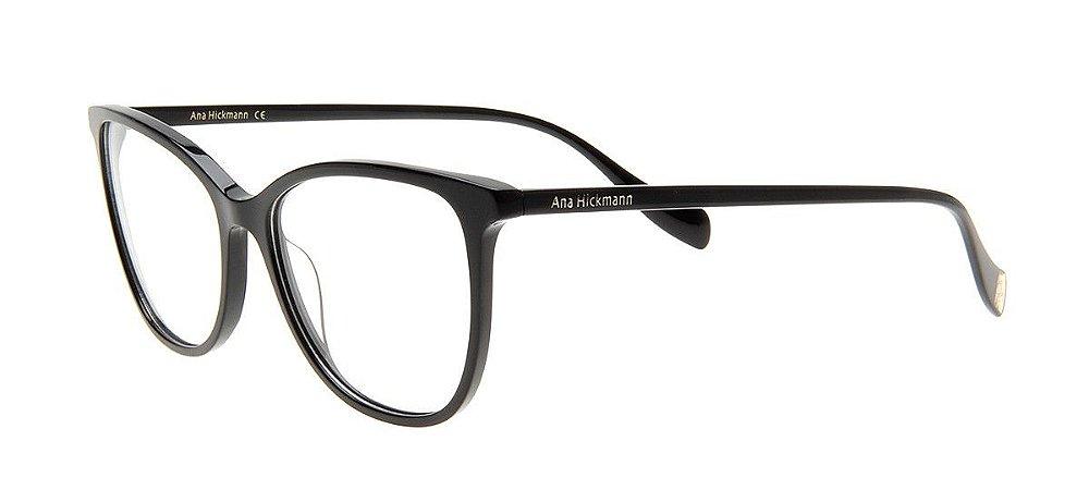 7d20be8565825 Armação Óculos de Grau Ana Hickmann Feminino AH6340 A01 - Ótica Quartz