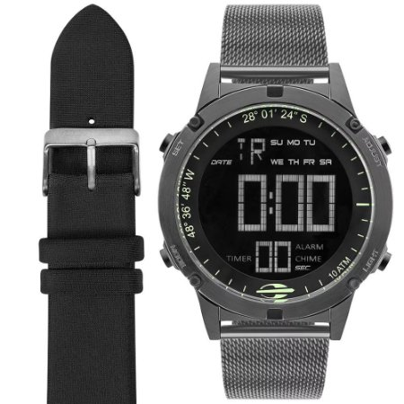 18fd3c91a770a Relógio Mormaii Unissex Slim Surf Digital MOW13901C T4C - Ótica Quartz