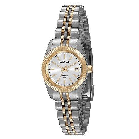 Relógio Seculus Feminino Long Life Analógico 77025LPSVBA3