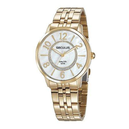Relógio Seculus Feminino Long Life Analógico 28948LPSVDA1