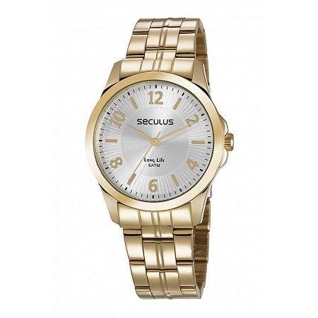 1e27ce72be2 Relógio Seculus Feminino Long Life Analógico 28879LPSVDA1 - Ótica Quartz
