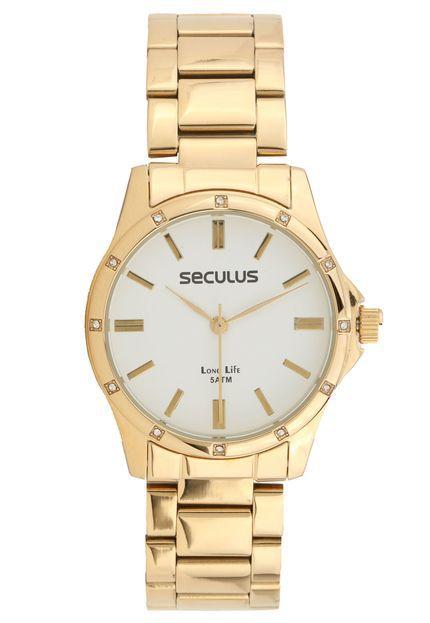 Relógio Seculus Feminino Long Life Analógico 5536LPSVDA1