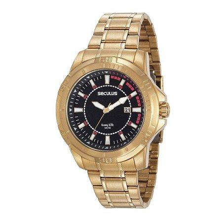 Relógio Seculus Masculino Long Life Analógico 20620GPSVDA2