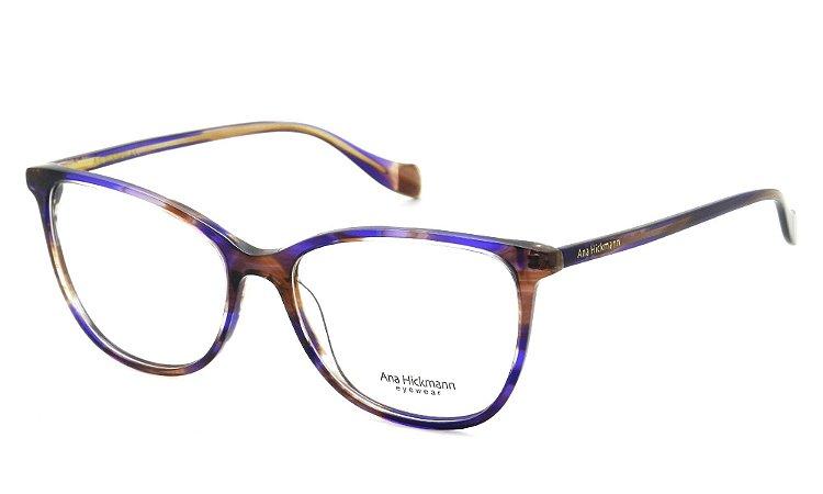 31bda7725 Armação Óculos de Grau Ana Hickmann Feminino AH6340 E02 - Ótica Quartz