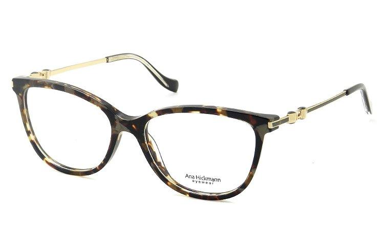 Armação Óculos de Grau Ana Hickmann Feminino AH6346 G21 - Ótica Quartz d02a6c07c2