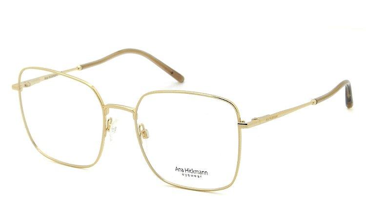 12c2be07f6fdd Armação Óculos de Grau Ana Hickmann Feminino AH1358C 04A - Ótica Quartz