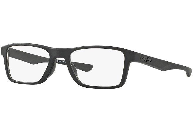 05191f986 Armação Óculos de Grau Oakley Masculino Fin Box OX8108-01 55 - Ótica ...